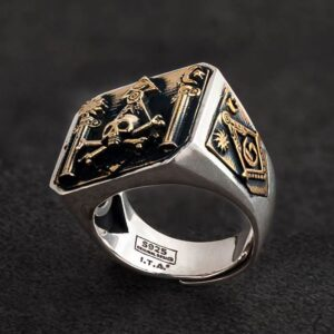 Masonic Skull & Crossbones Ring For Men