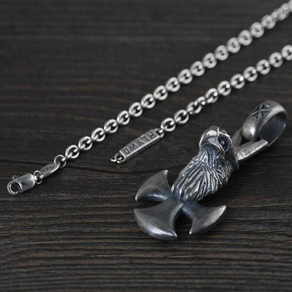 Mens Eagle Cross Pendant Necklace