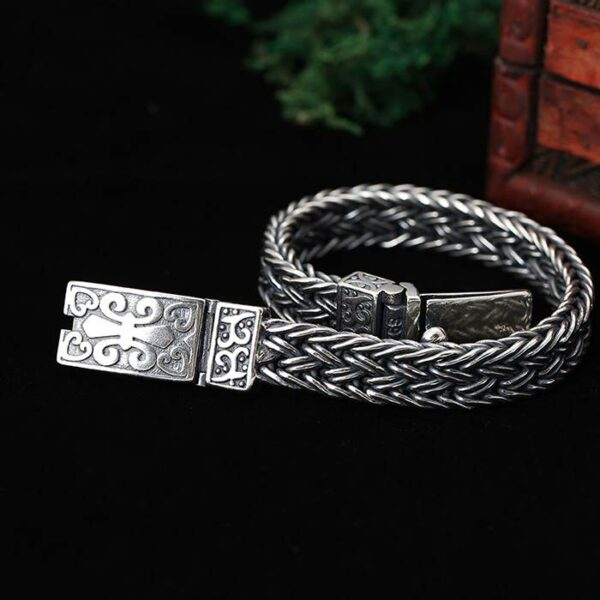 Sterling Silver Bold Wheat Chain Bracelet