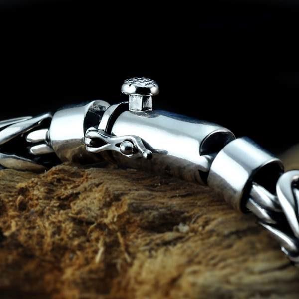 Sterling Silver Byzantine Chain Bracelet
