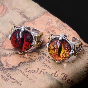 Sterling Silver Evil Dragon Eye Ring