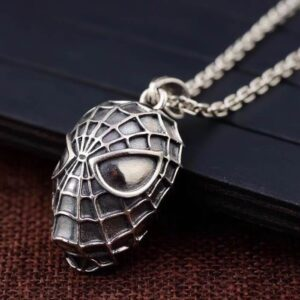 Sterling Silver Spiderman Pendant necklace
