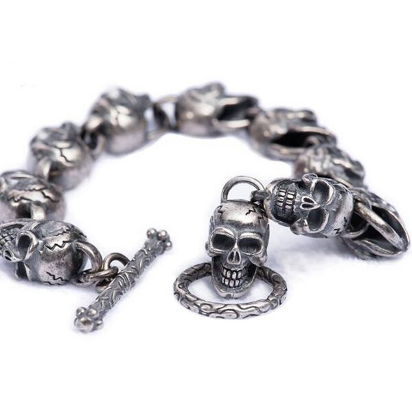 All Skull Links Bracelet