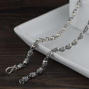 All Skull Links Chain Necklace