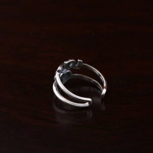 Elegant Sterling Silver Love Heart Ring