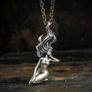 Naked Female Pendant Necklace
