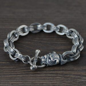 Bulldog With Chain Links Bracelet