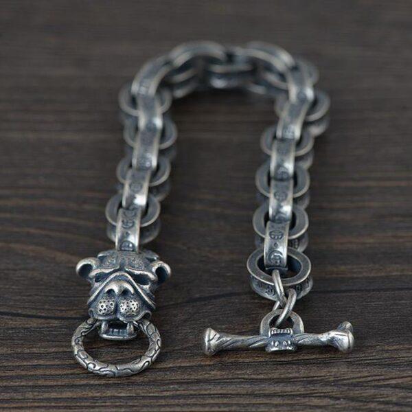 Bulldog With Chain Links Bracelet