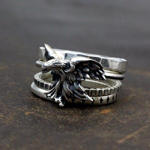 Eagle Set of 4 Stacking Rings
