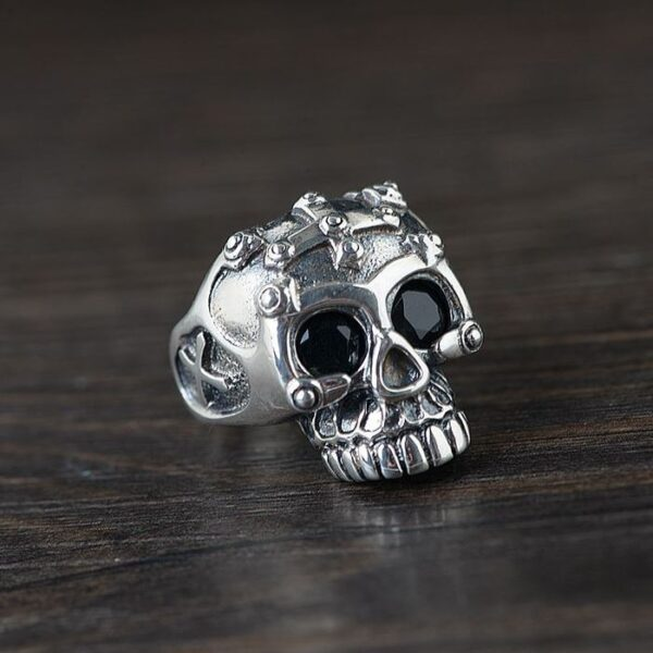 Lords Prayer Skull Ring with Cross