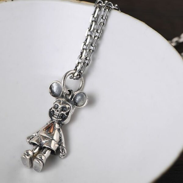 Mickey Mouse Skull Pendant Necklace