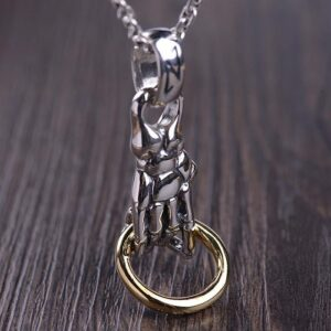 Sliver Skeleton Hand Pendant Necklace