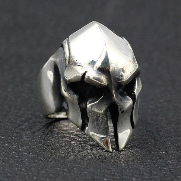 Spartan Warrior Mask Ring