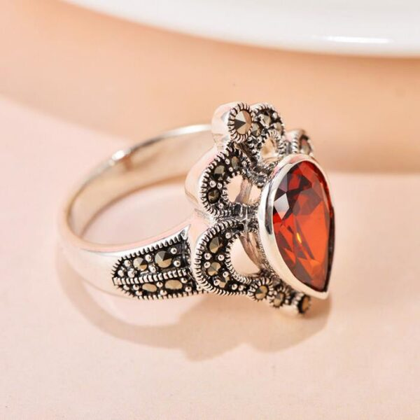 Sterling Silver Crown Pave Cubic Zirconia Ring