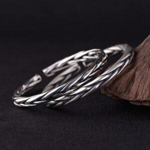 990 Fine Silver Woven Cuff Bracelet