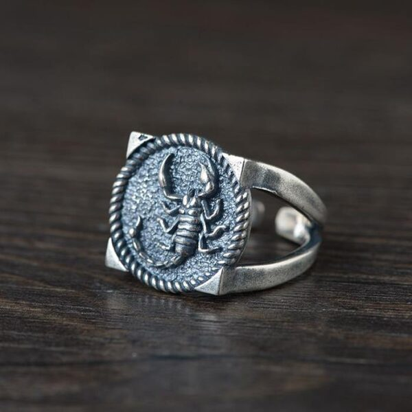 Mens Sterling Silver Scorpion Ring