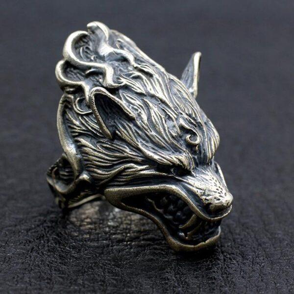 Wolf Head Ring
