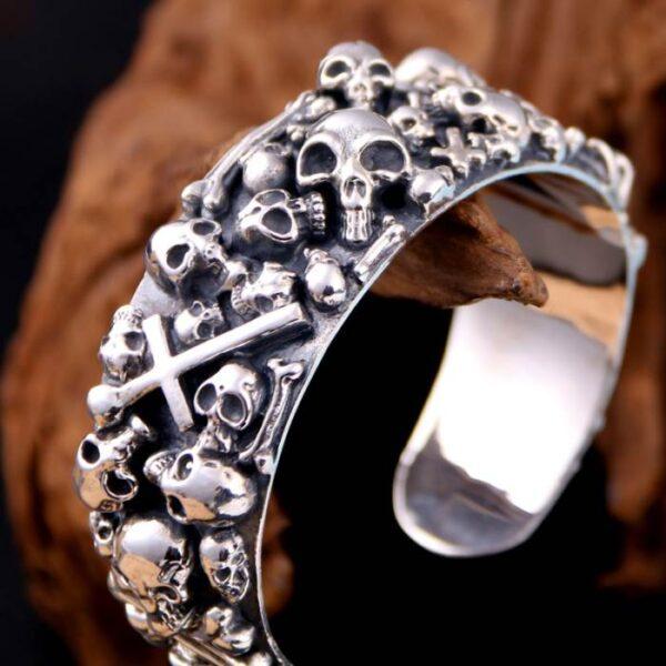 Multi-Skull Bangle Bracelet