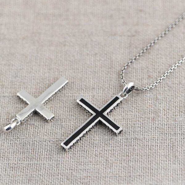 Silver Simple Cross Pendant Necklace