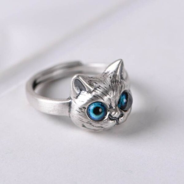 Sliver Cute Cat Ring