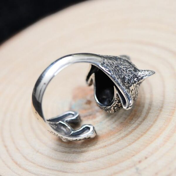 Sterling Silver Bulldog Baby Ring