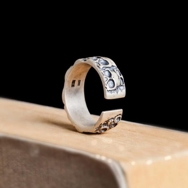 Sterling Silver Catacombs Skulls Ring