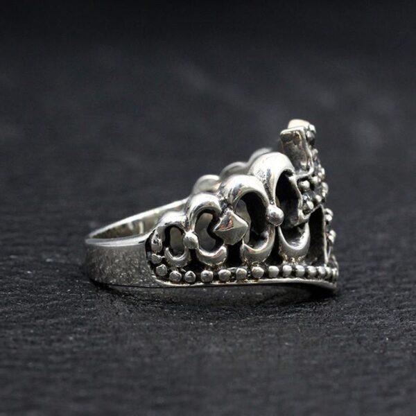 Sterling Silver Crown Cross Ring