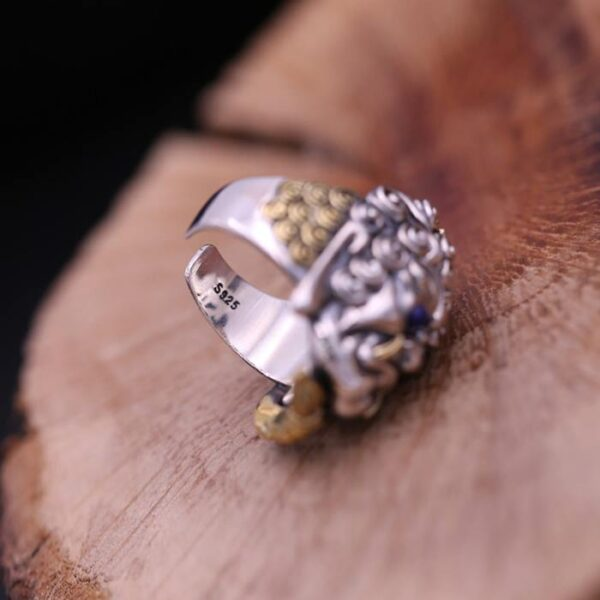 Sterling Silver Demon Ring With Braid