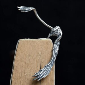 Sterling Silver Eagle Wings Ear Cuff