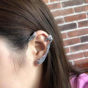 Sterling Silver Eagle Wings Ear Cuff