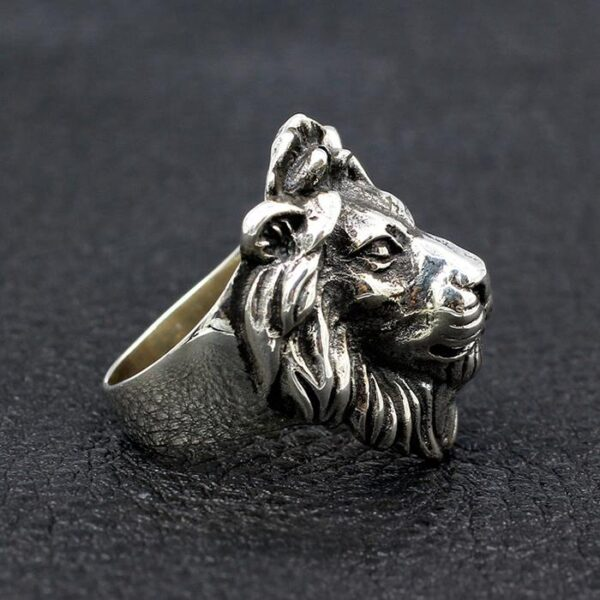 Sterling Silver Lion Head Ring