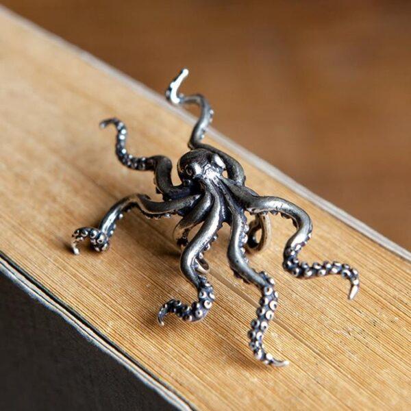 Sterling Silver Octopus Ear Cuff