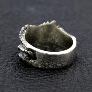 Sterling Silver Snake Head Ring