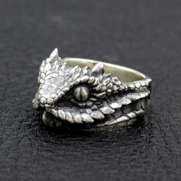Sterling Silver Snake Head Ring