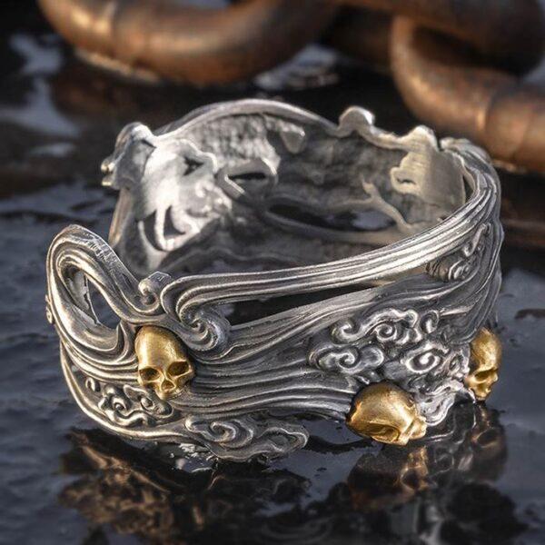 Skull Wide Cuff Bracelet