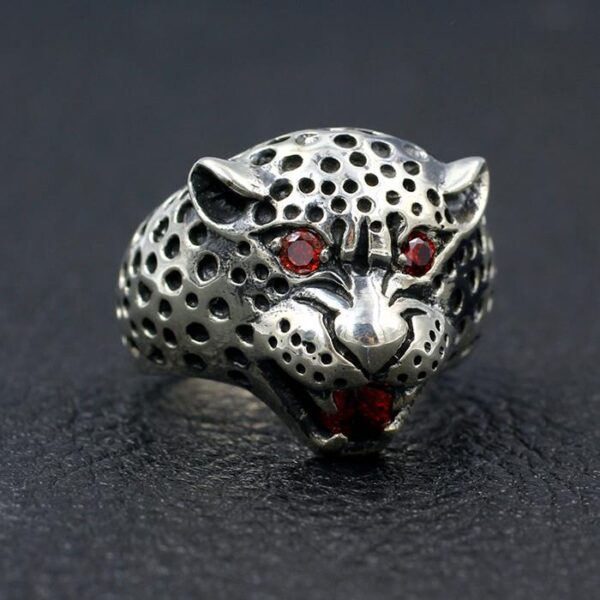 Sterling Silver Leopard Ruby Ring