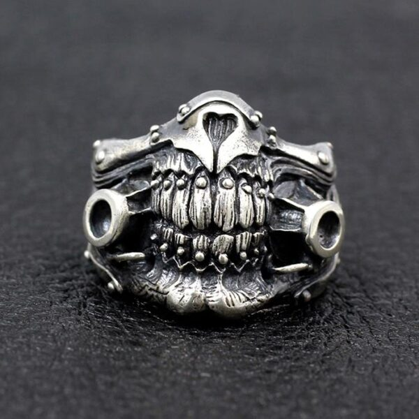 Sterling Silver Mad Max Toecutter Mask Ring