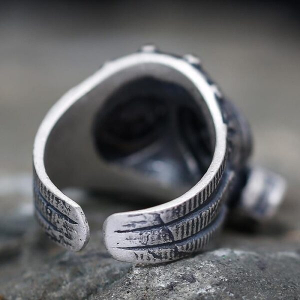 Sterling Silver Gas Mask Ring