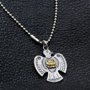 Men's Sterling Silver Thunderbird Pendant Necklace
