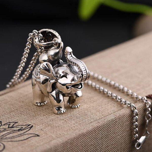 Elephant Pendant Charm Necklace