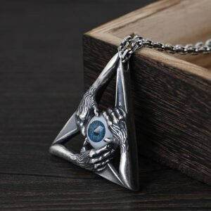 Eyeball Hands Pendant Necklace