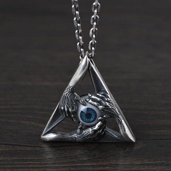 Eyeball Hands Pendant Necklace