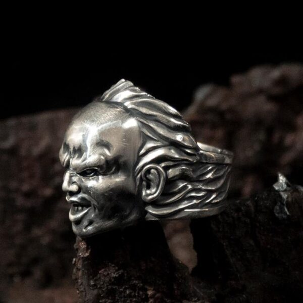 Fine Silver Count Dracula Ring