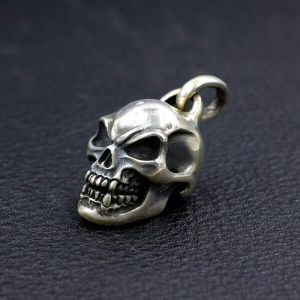Large Skull Pendant With Bead Chain