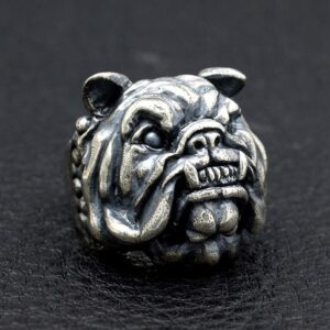 Sterling Silver Pug Dog Ring