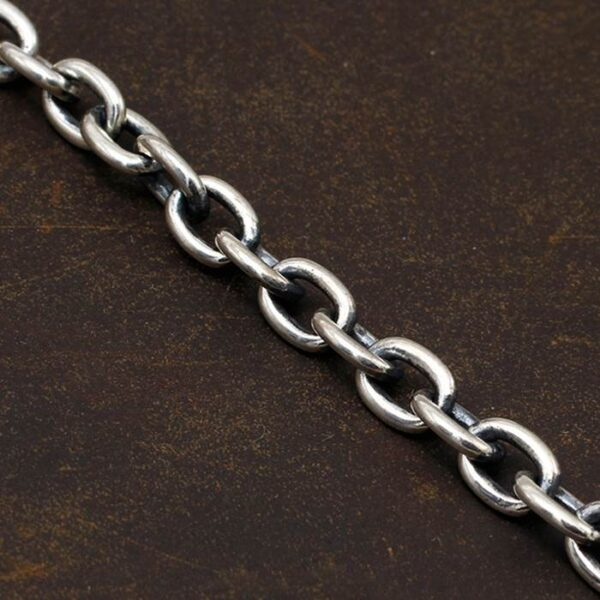 Small Silver Skull Chain Bracelet