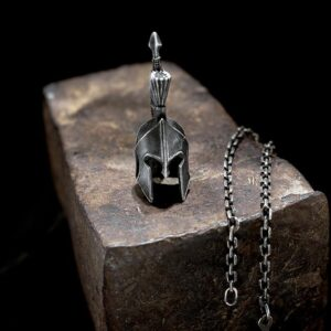 Spartan Helmet Pendant Necklace