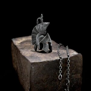 Spartan Helmet Pendant Necklace