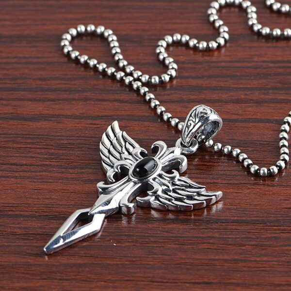 Cross Wing Pendant Necklace