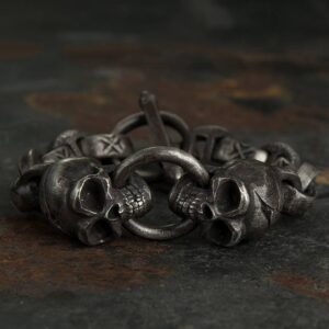 Heavy Wide Skull Bracelet